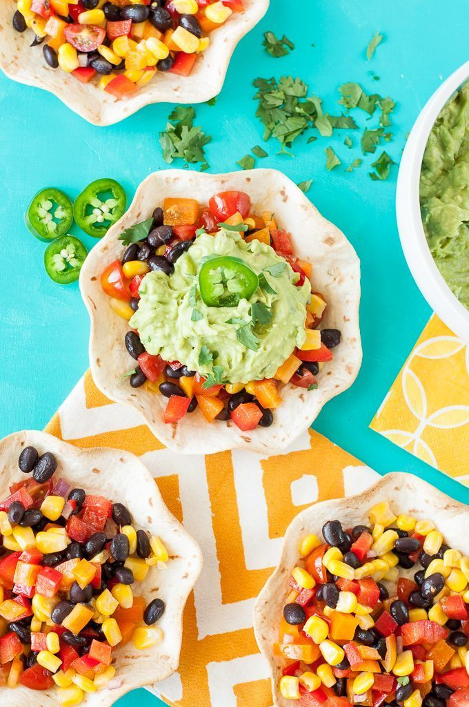 Guacamole Tacos with Southwestern Veggie Salsa