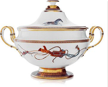 Cheval d'Orient Soup Tureen - Contemporary - Tureens - other metro ...