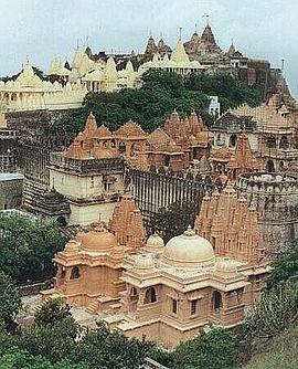 The Palitana Temples of Jainism on Mount Satrunjaya, Palitana, Gujarat India.