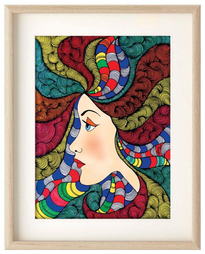 Lady, Gorgeous wall art, Portrait home decor, art print, portrait poster, Professional Digital print, wall art, illustration, ArtChromata by ArtChromata on Etsy
