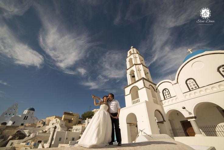 Theotokaki church, at Pyrgos village, Santorini island, Greece. Wedding planning by http://www.weddingingreece.com