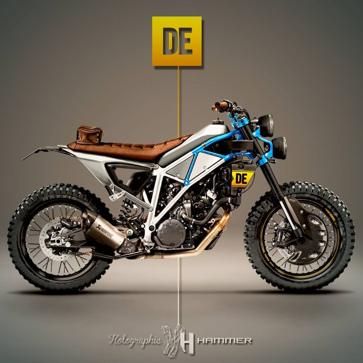 Derestricted KTM 1190 Adventure by Holographic Hammer #motorcycles #streettracker #motos | caferacerpasion.com