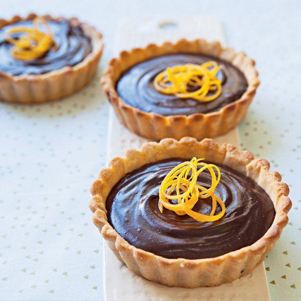 Čokoládovo-pomerančové tartaletky , Foto: Silvie Kolevová / Jídlo jako vášeň