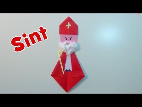 Sinterklaas vouwen en knutselen van papier - YouTube