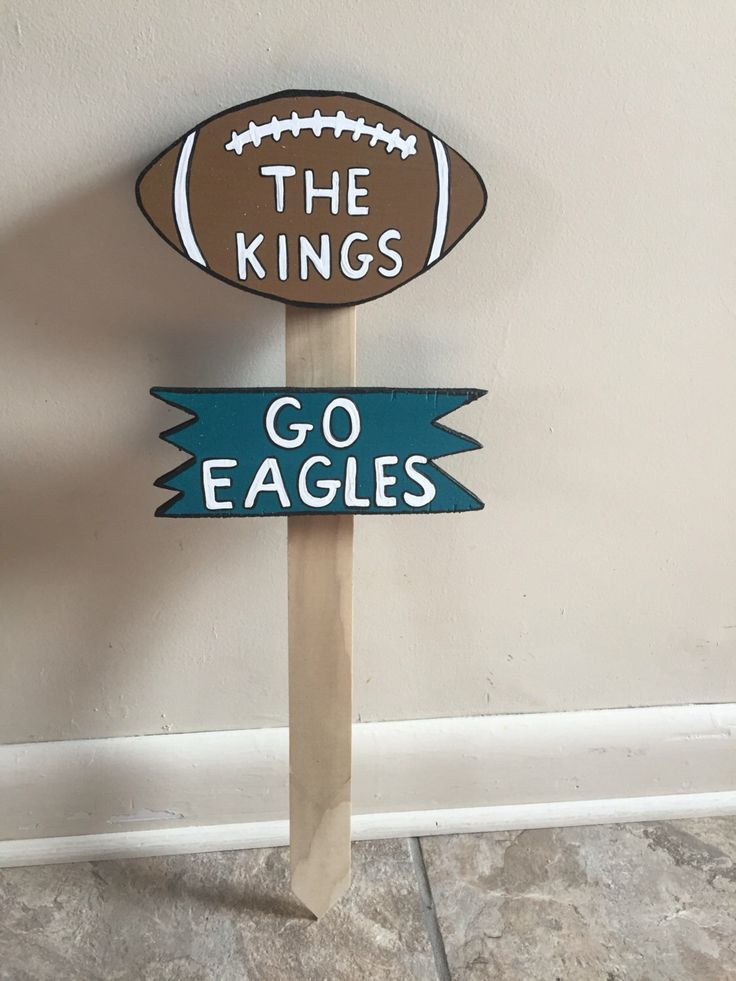 A personal favorite from my Etsy shop https://www.etsy.com/listing/387500824/wooden-last-name-sign-football-team