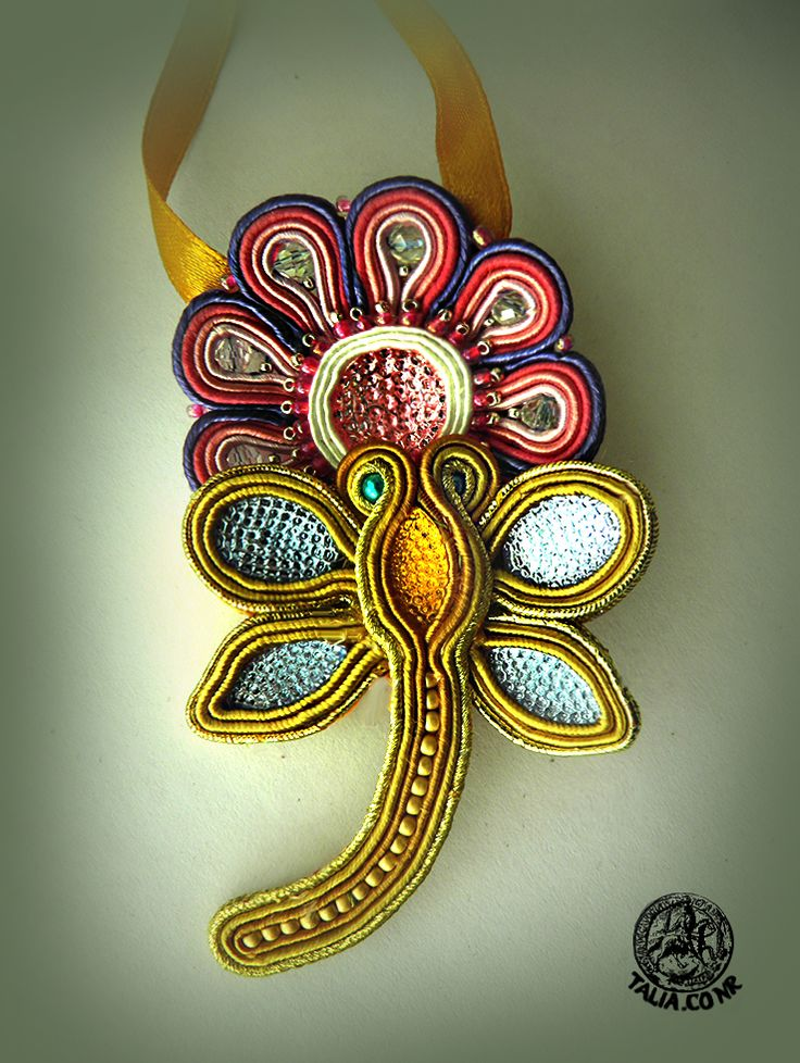 Flower-and-Dragonfly pendant for little girl