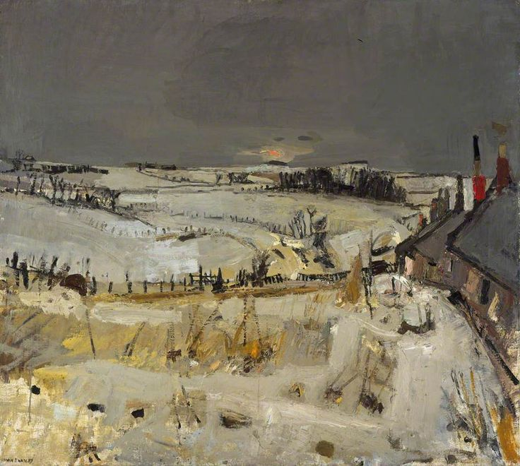 Joan Eardley (British, 1921-1963), Snow. c. 1958. Oil on board, 101.5 x 113.5 cm. Scottish National Gallery of Modern Art, Edinburgh.