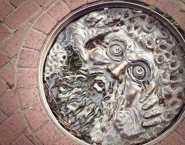 Manhole cover.