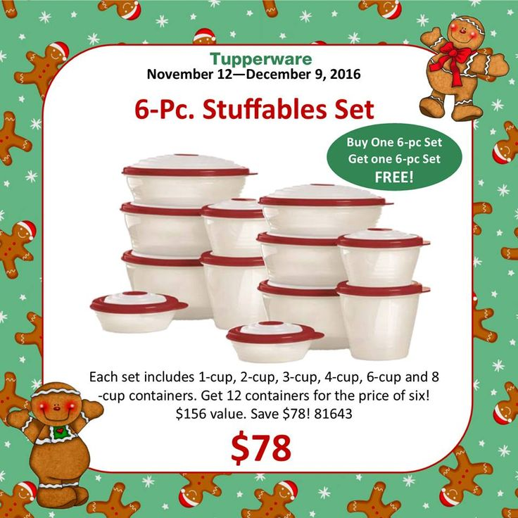 Tupperware Stuffables BOGO Set Sale