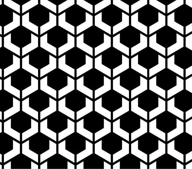 percepcion fondo - figura - Esta imagen juega con nuestro ojo, los elementos juegan entre si. el fondo crea una imagen al igual que los elementos en negro nos hace dar la sensación que están separados del fondo.