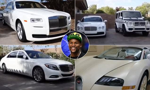 Floyd Mayweather's shows off £4.6m car collection