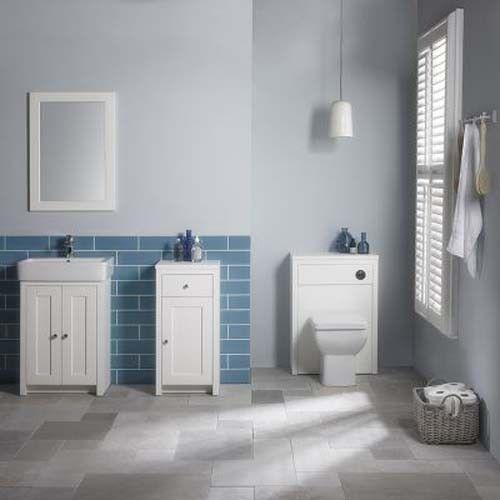 Tavistock Lansdown Linen White 400mm Floorstanding Bathroom Storage