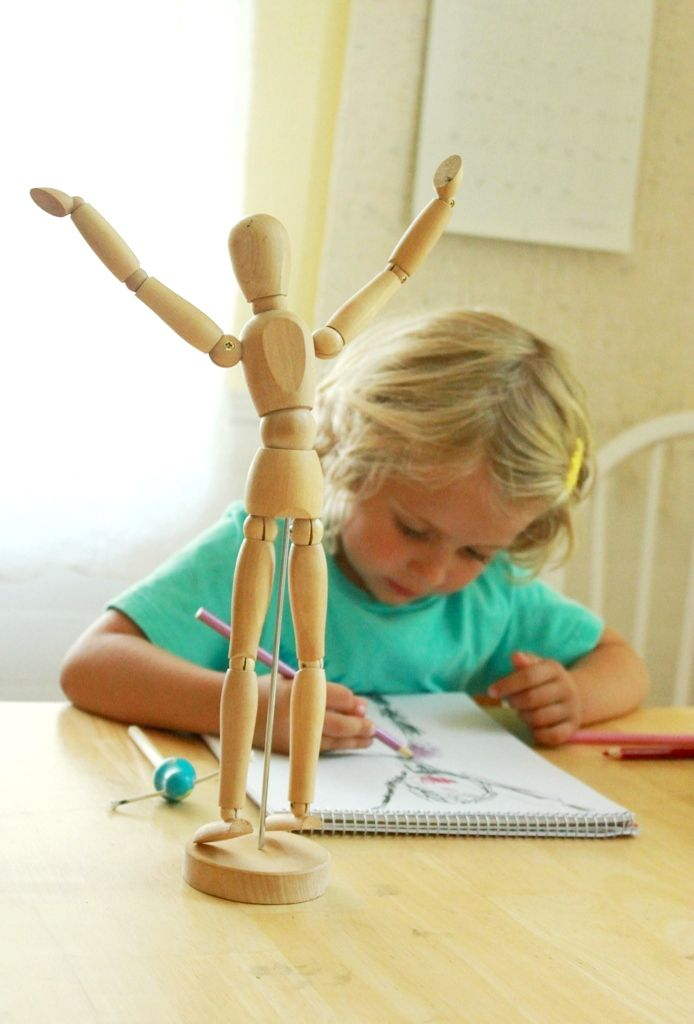 Figure drawing with kids -- great idea! Try using a wooden model or a stuffed animal rather than a real person...