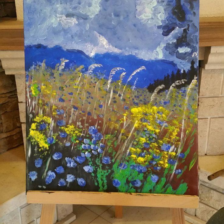 Landscape akryl painting
