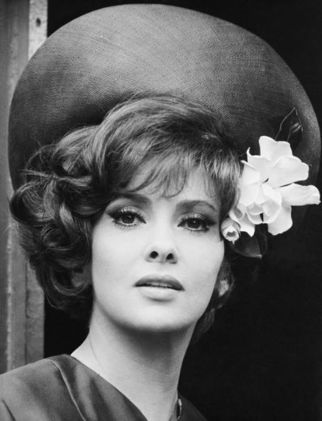 Gina Lollobrigida - now this is the way to wear a flower on a hat!