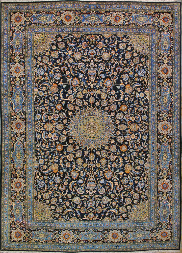 "Buy Kashan Persian Rug 9' 10"" x 13' 11"", Authentic Kashan Handmade Rug"