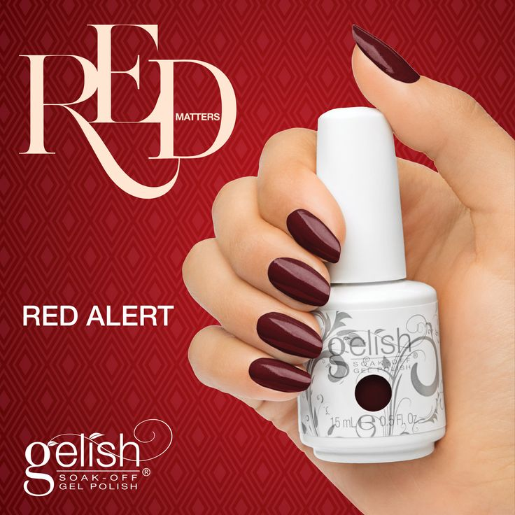 Gelish Red Alert from the Red Matters Collection. Available now on auswax.com.au