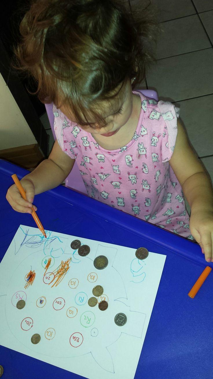 Zia's piggy bank coin match