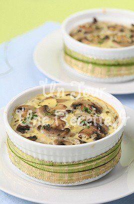 Photo de la recette Clafoutis aux champignons