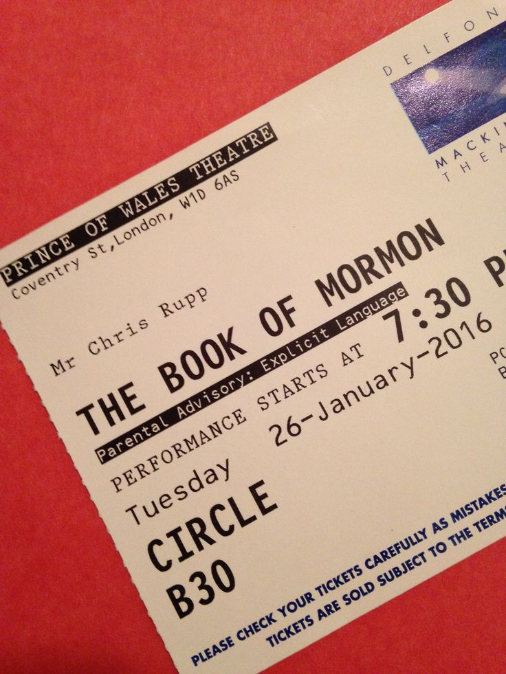book of mormon last minute tickets