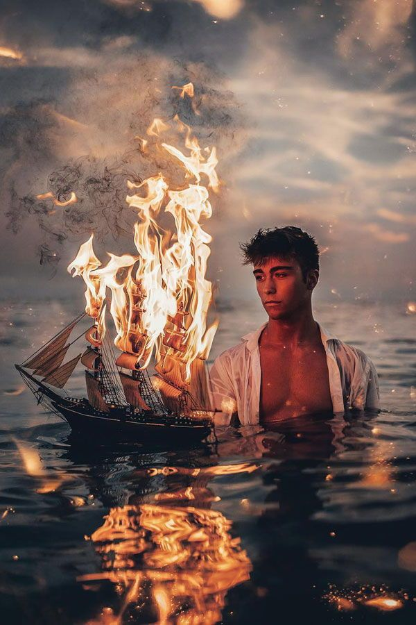 Stunning Photos Capture the Fiery Passion of People in the Ocean