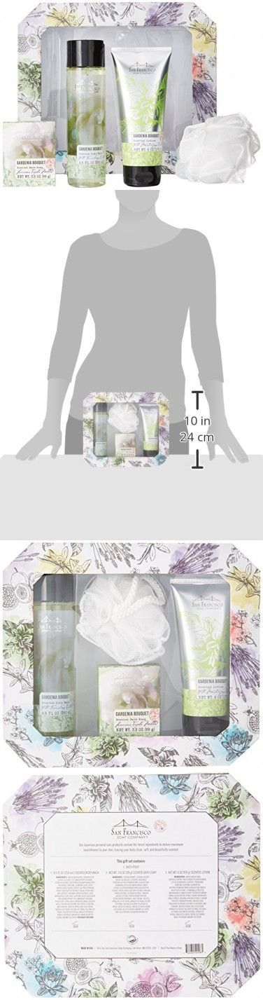 San Francisco Soap Company 5 Piece Gift Kit, Gardenia Bouquet