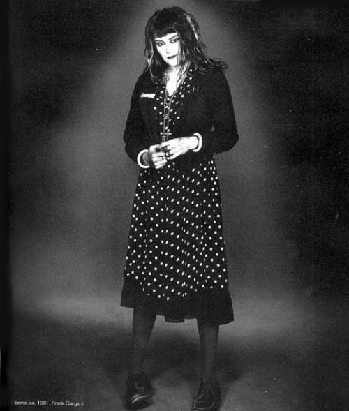 I think I have always pretty much stolen my style from Exene, like how I actually dress vs. what I would like to have could I afford it.  But she is a true LA punk icon, and pretty much one of my all time faves.