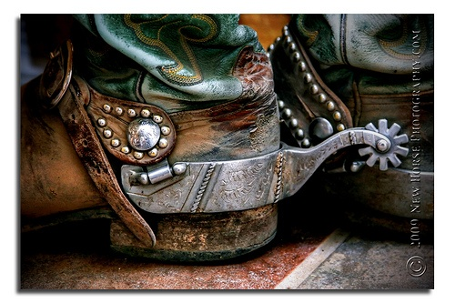 Dirty boots and spurs!