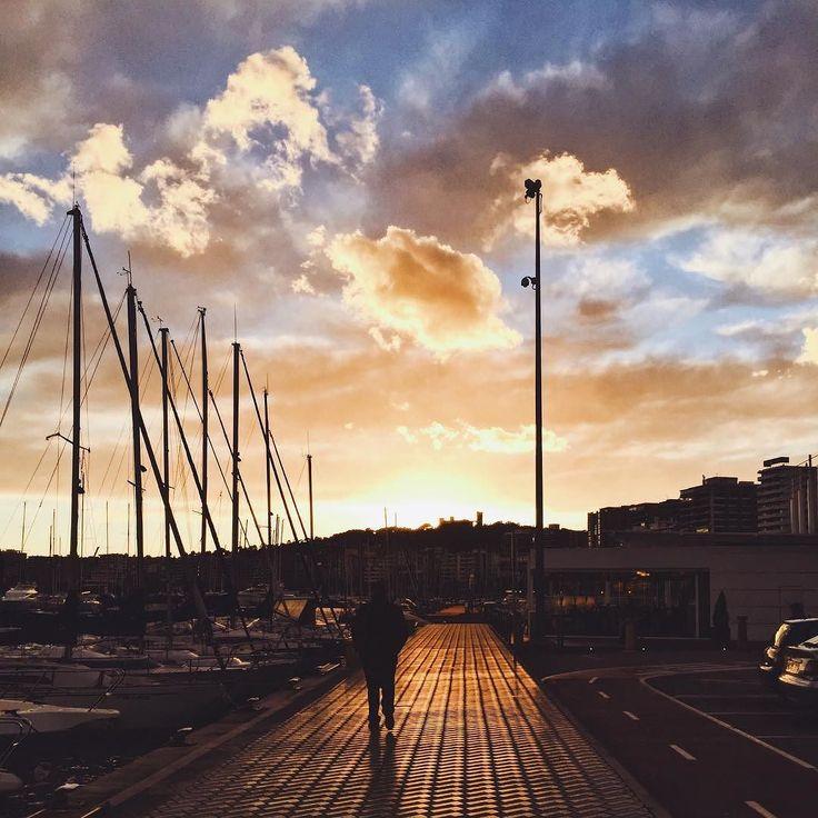 Immer den Sonnenuntergang entgegen #latergram #mallorca #palma #palmademallorca #sundown  #cloudporn #sunset_madness #sunsetporn #beach #sun #travelgram #travel #travelphotography #wanderlust #diewocheaufinstagram