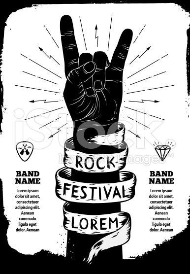 Rock festival poster royalty-free stock vector art