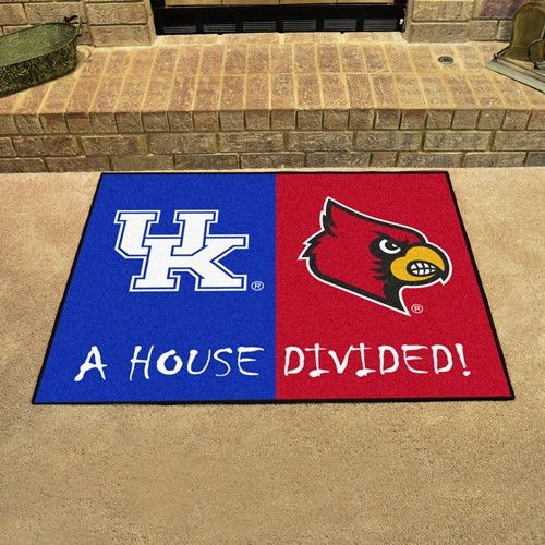 No one ever said your household had to cheer for only one team. Keep this Kentucky - Louisville College House Divided Mat by Fanmats in your home to let your loved ones and guest know your team is not