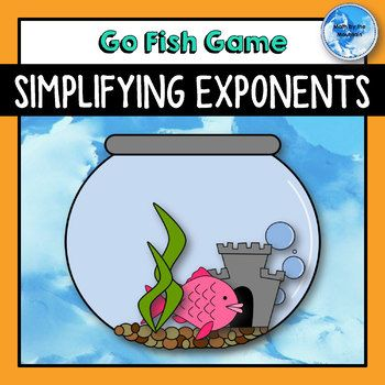 Students work to simplify exponents while playing a fun Go Fish! game. Exponent properties include: - Product Rule: x^a*x^b = x^(a+b) - Power Rule: (x^a)^b = x^(a*b) - Quotient Rule: x^a/x^b = x^(a-b) - Zero Exponent Rule: x^0 = 1 - Negative Exponent Rule: 1/x^-a = x^a and x^-a = 1/x^a