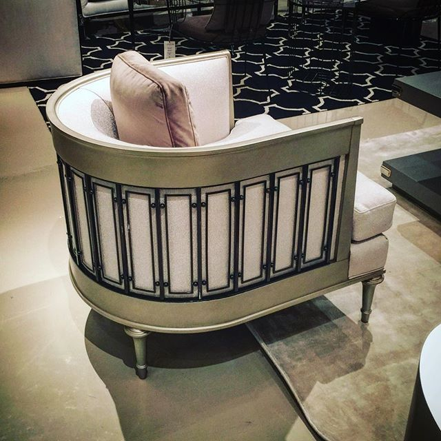 Bareel chair from Caracole. Fall 2015 High Point Furniture Market Finds with Design Connection, Inc. | Kansas City Interior Design http://www.DesignConnectionInc.com/design-blog
