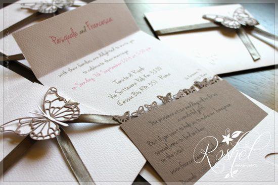 Idee per partecipazioni di nozze in primavera/estate: farfalle, girasoli e fragole - Matrimonio .it : la guida alle nozze