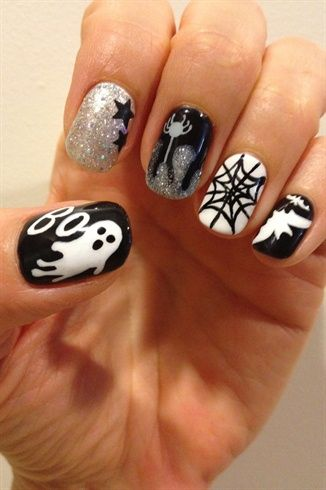 Halloween 2012 - Nail Art Gallery by NAILS Magazine check out www.MyNailPolishObsession.com for more nail art ideas.