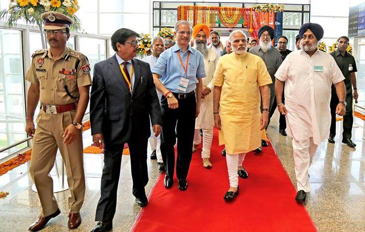 PM Modi at Chandigarh #international #internationalairportmohali #mohaliairport #airportmohali #narendramodi #sukhbirsinghbadal #parkashsinghbadal