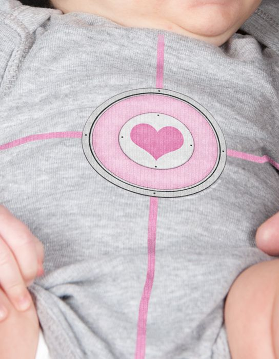 J!NX : Portal 2 Companion Cube Girls Baby Creeper - Clothing Inspired by Video Games & Geek Culture