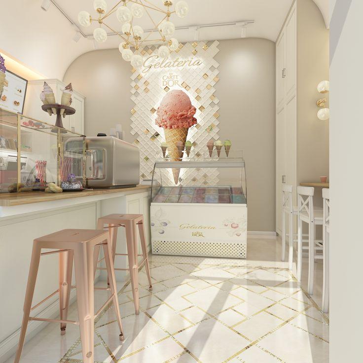 Более лучших идей на тему Кафе мороженое на  Кафе мороженое carte d`or в Краснодаре Ванильно ягодные оттенки возбуждают аппетит