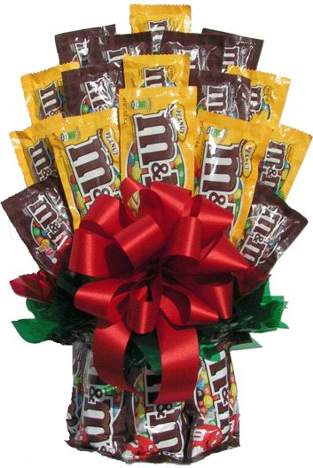 M Plain and Peanut Chocolate Candy Gift Bouquet