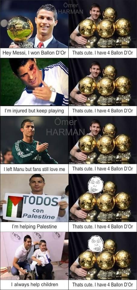 Twitter / Footy_Jokes: Ronaldo vs Messi. ...