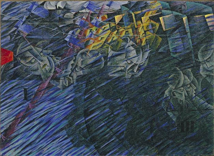Stati d'animo II Quelli che vanno (1911)  - Boccioni Umberto (1882-1916) - STAMPA SU TELA  € 18,15