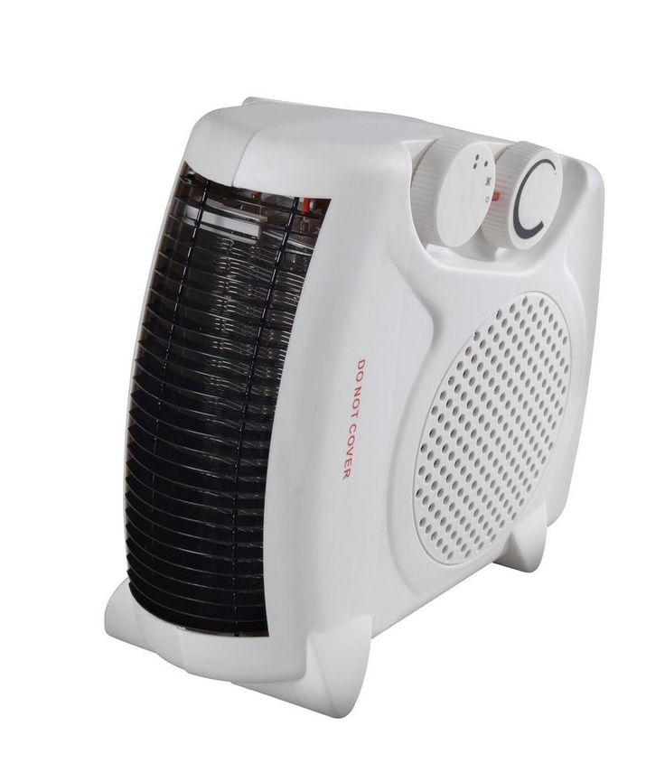 Upright Electric Fan Heater Portable Small Thermostat Energy Saving Carry Handle #Highlands
