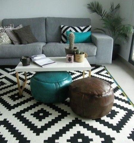 33 best Decoração com Tapetes images on Pinterest Living room - tapete küche modern