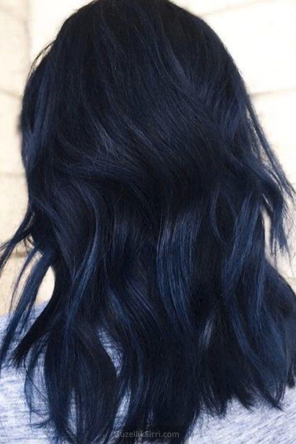 Gece Mavisi Sac Rengi 2020 Siyah Renkli Sac Mavi Sac Renkleri