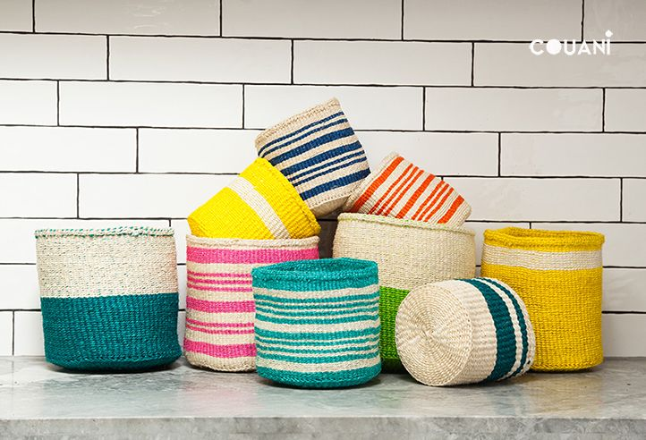 COUANI catalogue 2014 // COUANI colourful collection of hand woven storage baskets // www.couani.com.au
