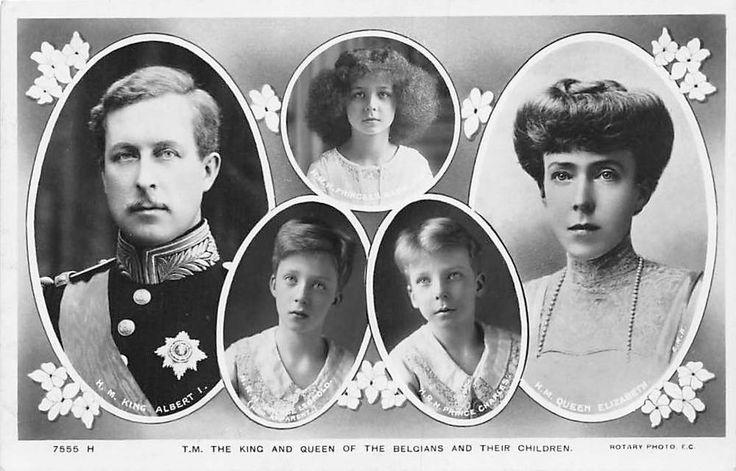 Albert I, Elisabeth, Maria Jose, Leopold, Charles, Belgium Royalty, Real Photo
