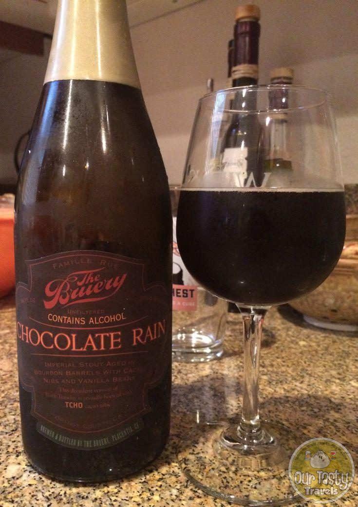 1-Mar-2015 : Chocolate Rain by The Bruery. Black Tuesday W/ Vanilla Bean Cocoa Nibs - One barrel, one day. #ottbeerdiary