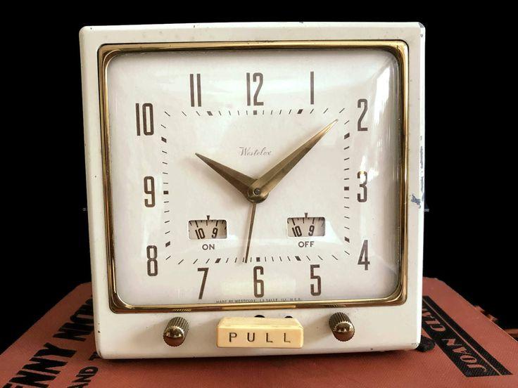Vintage Westclox Model T8-1 Metal Body Westclox Alarm Clock 1930s Pre-War Working Cloth Cord Original Wiring Antique Clock by MerrilyVerilyVintage on Etsy https://www.etsy.com/listing/554008679/vintage-westclox-model-t8-1-metal-body