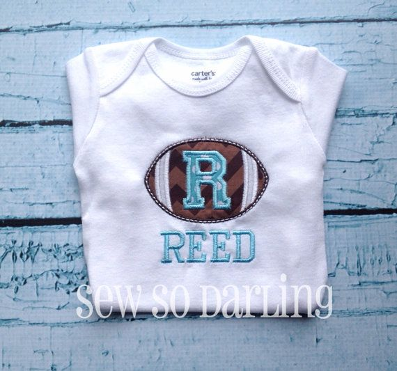Baby football outfit  Baby Football Shirt  by SewSoDarling on Etsy