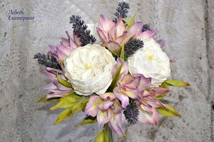 """Свадебные цветы ручной работы. Ярмарка Мастеров - ручная работа Свадебный букет с розами и ирисами из фоамирана """"Прованс"""". Handmade."""